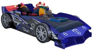 Blue Speed Racing Single Bed Mattress: NOt Included