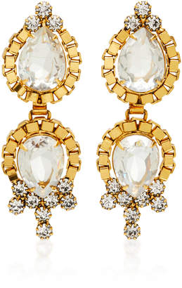 Nicole Romano Lumi 18K Gold-Plated Crystal Earrings