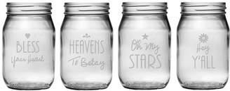 Susquehanna Glass Southern Sayings Drinking Jar