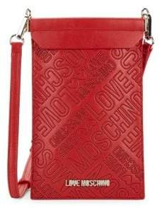 Love Moschino Portacel Faux Leather Crossbody Bag