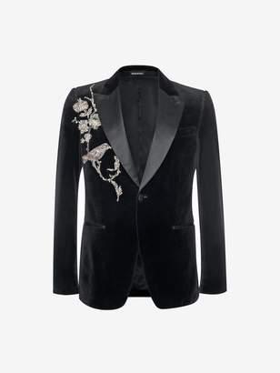 Alexander McQueen Crystal Embroidered Velvet Jacket