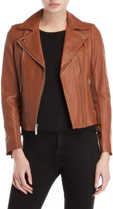 MICHAEL Michael Kors Cognac Moto Jacket