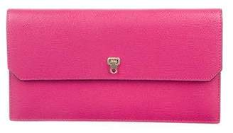 Valextra Textured Leather Clutch w/ Tags