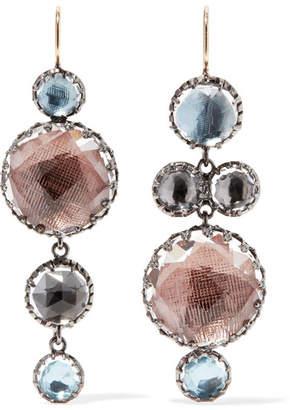 Larkspur & Hawk - Sadie Rhodium-dipped Quartz Earrings - Gold