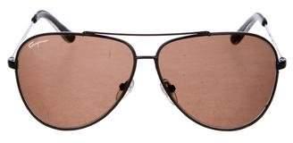 Salvatore Ferragamo Tinted Aviator Sunglasses