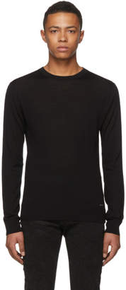 DSQUARED2 Black Wool Classic Crewneck Sweater