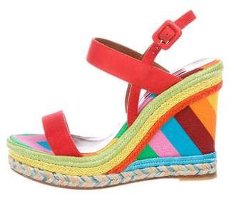 Valentino 1973 Collection Wedge Sandals