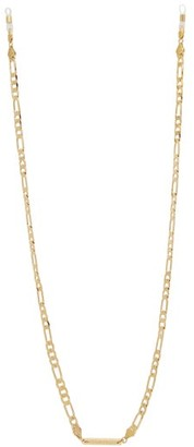 Frame Chain - Full Figaro Gold Plated Glasses Chain - Womens - Yellow Gold