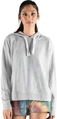 Rebel Canyon Young Women's Lightweight French Terry Long Sleeve Pullover Hoody with Stitching Details