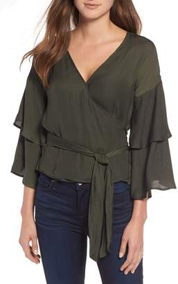 Cupcakes And Cashmere Yetta Wrap Top