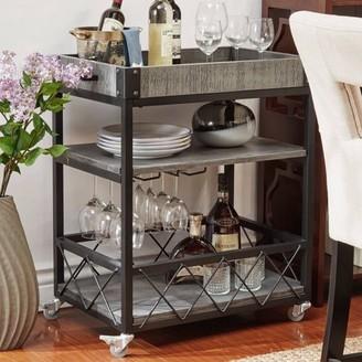 Weston Home Kitchen Cart, Grey