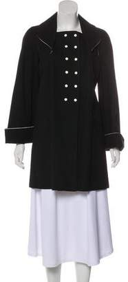 Zac Posen Canvas Knee-Length Coat