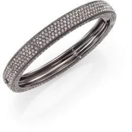 Adriana Orsini Pave Crystal Four-Row Bangle Bracelet