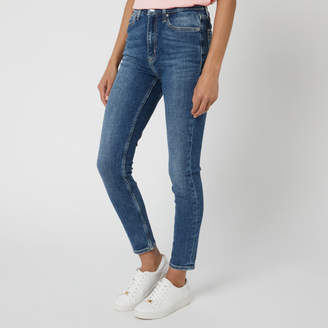 Calvin Klein Jeans Women's High Rise Skinny Ankle Jeans