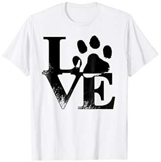 Love Paw Print Dog T-Shirt
