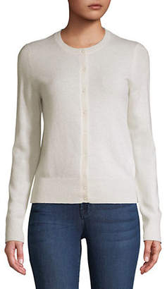 Lord & Taylor Petite Buttoned Cashmere Cardigan