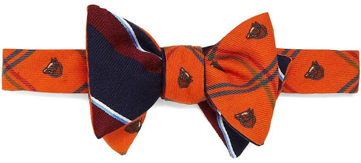 Social Primer Reversible Bow Tie: Horse Plaid and Sidewheeler Stripe