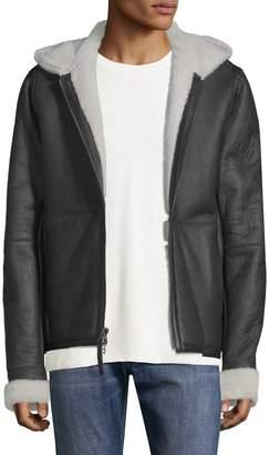 Vince Men's Leather Shearling Jacket