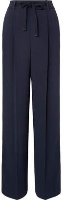 Vince Crepe Wide-leg Pants - Navy