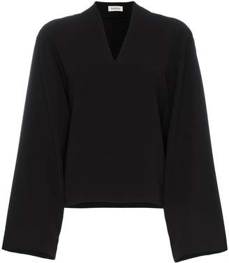 Totême gervasi slash neck blouse