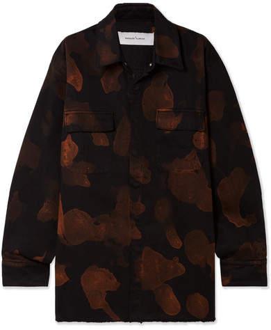 Marques' Almeida - Oversized Bleached Denim Shirt - Black
