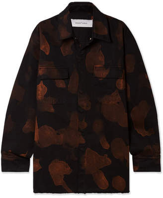 Marques Almeida Marques' Almeida - Oversized Bleached Denim Shirt - Black