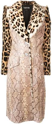 Tom Ford animal print coat