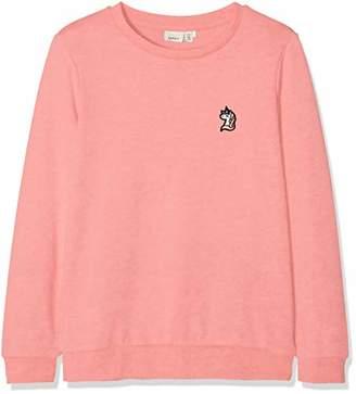 Name It Girl's Nkfberbel Ls Sweat Unb Noos Sweatshirt, (Rosa Geranium Pink)