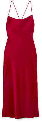 Jason Wu Open-back Satin-crepe Midi Dress