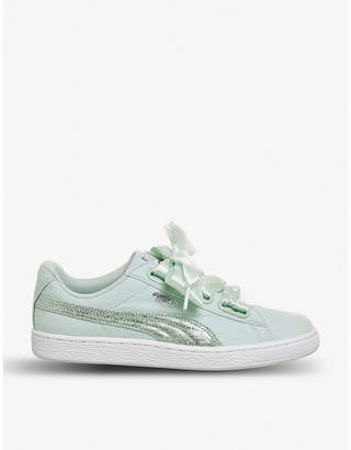 Puma Basket low-top canvas trainers