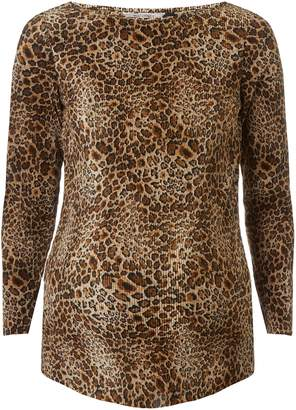 Dorothy Perkins Womens **Maternity Animal Print Plisse Long Sleeve Top