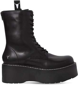 Windsor Smith 70mm Lindsay Leather Wedged Boots