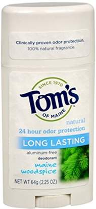 Tom's of Maine Natural Deodorant Stick Woodspice 2.25 oz (Pack of 11)