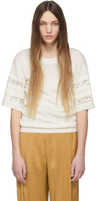 Chloé Off-White Knit Lace Sweater