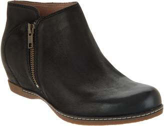 Dansko Leather Wedge Ankle Boots - Leyla