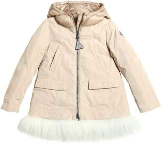 Moncler Chevron Nylon Gabardine Down Coat