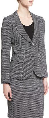 Armani Collezioni Chevron Jacquard Blazer, Black $1,395 thestylecure.com