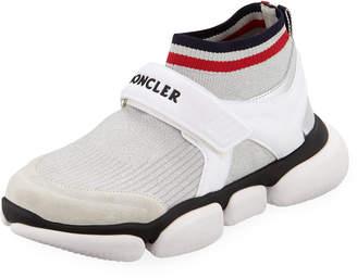 Moncler Baktha Stretch-Knit Sneakers