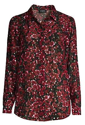 The Kooples Women's Floral Metallic Shirt