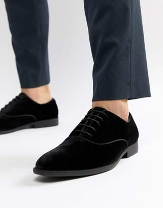 Asos DESIGN lace up dress shoe in black velvet
