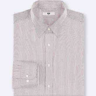 Uniqlo Men's Easy Care Striped Regular-fit Long-sleeve Shirt (online Exclusive)