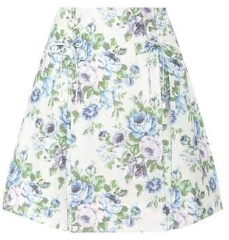 Zimmermann Floral linen skirt
