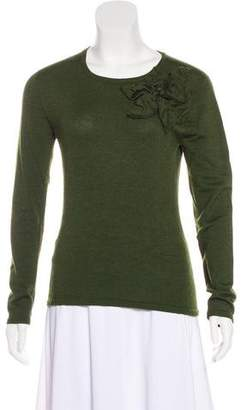 Oscar de la Renta Cashmere and Silk Blend Sweater