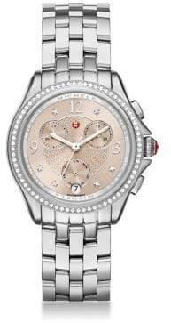 Michele Belmore Chrono Diamond & Stainless Steel Bracelet Watch