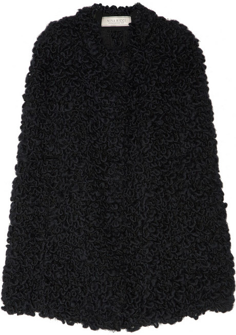 Nina Ricci Bouclé wool-blend cape