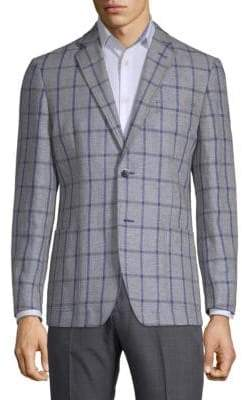 Ben Sherman Regular-Fit Windowpane Notch Jacket