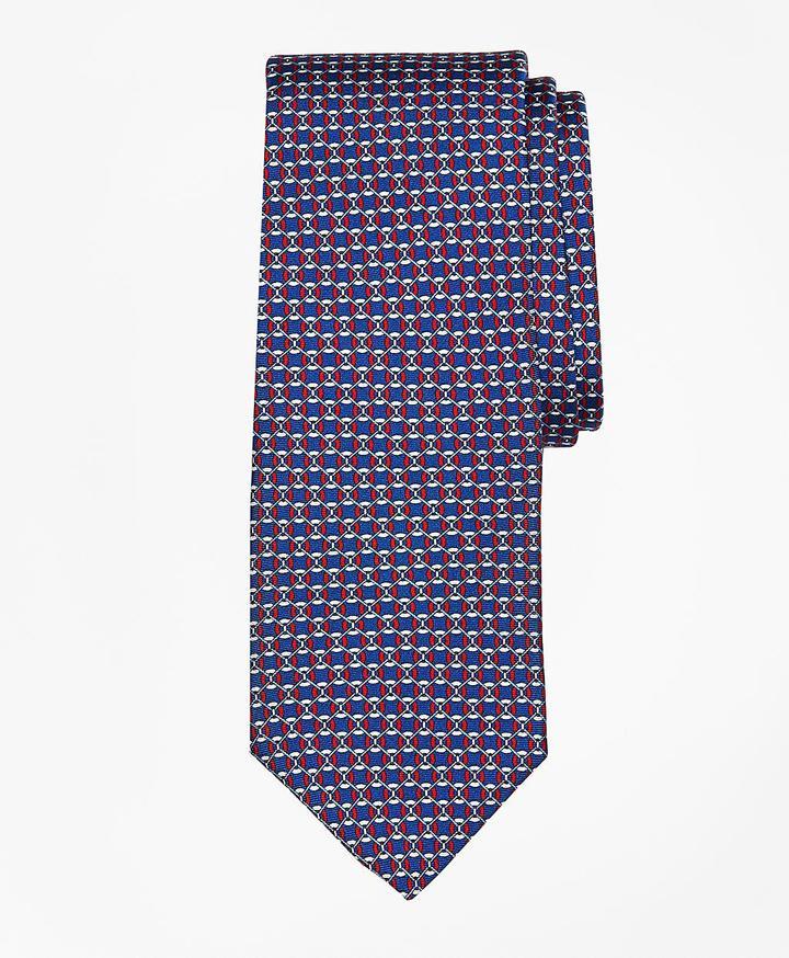 Brooks Brothers Floatation Link Print Tie