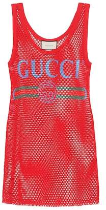 Gucci Mesh cotton tank top