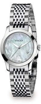 Gucci G-Timeless Diamond Stainless Steel Bracelet Watch