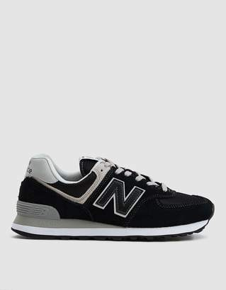 New Balance 574 Sneaker in Black/White